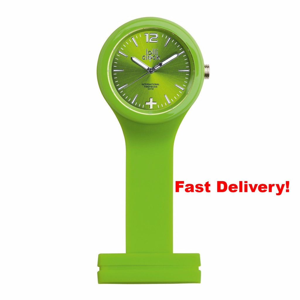 Pocket Watch Store Nurses Watch Light Green with Light Green Face