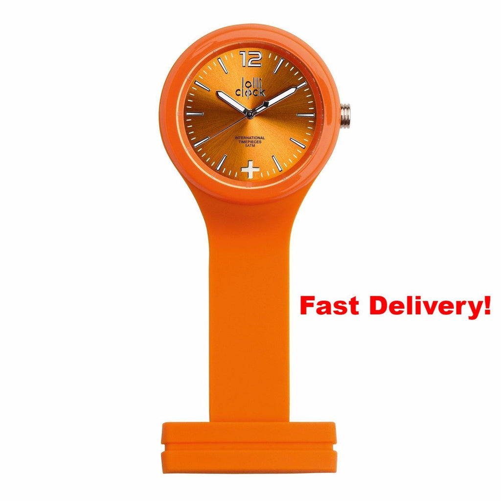 Pocket Watch Store Nurses Watch Orange with Orange Face