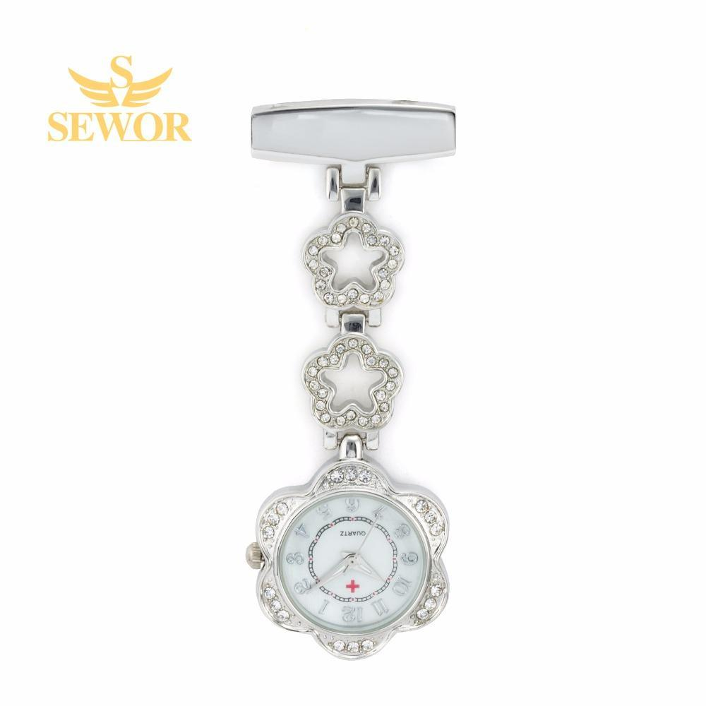 Pocket Watch Store SEWOR Crystal Decoration Nurse Watch