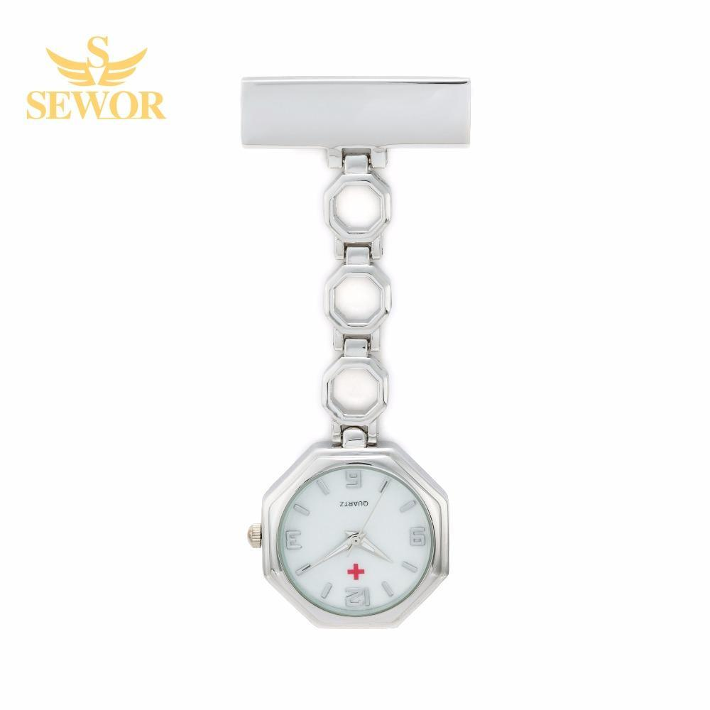 Pocket Watch Store SEWOR Hexagon Nurse Watch