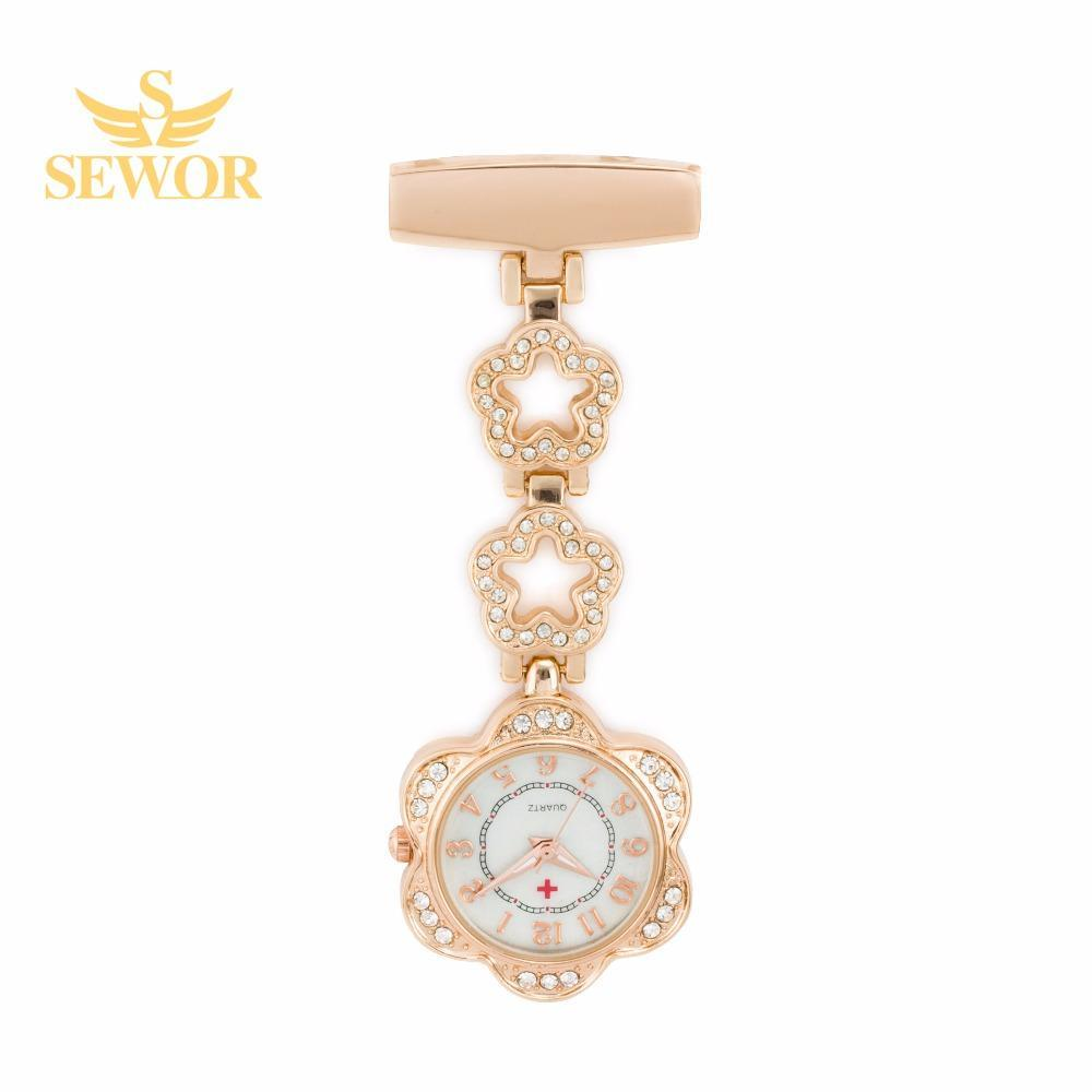 Pocket Watch Store SEWOR Nurse Watch Rose