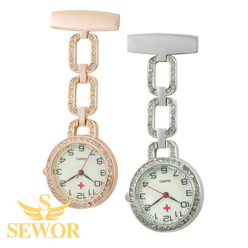 Pocket Watch Store SEWOR Triple Chain Nurse Pocket Watch