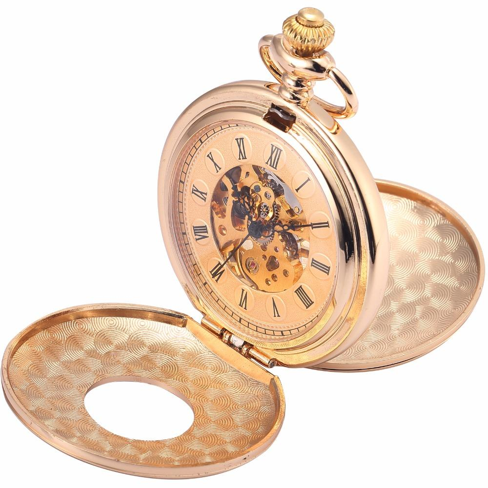 Rose Double Hunter Pocket Watch