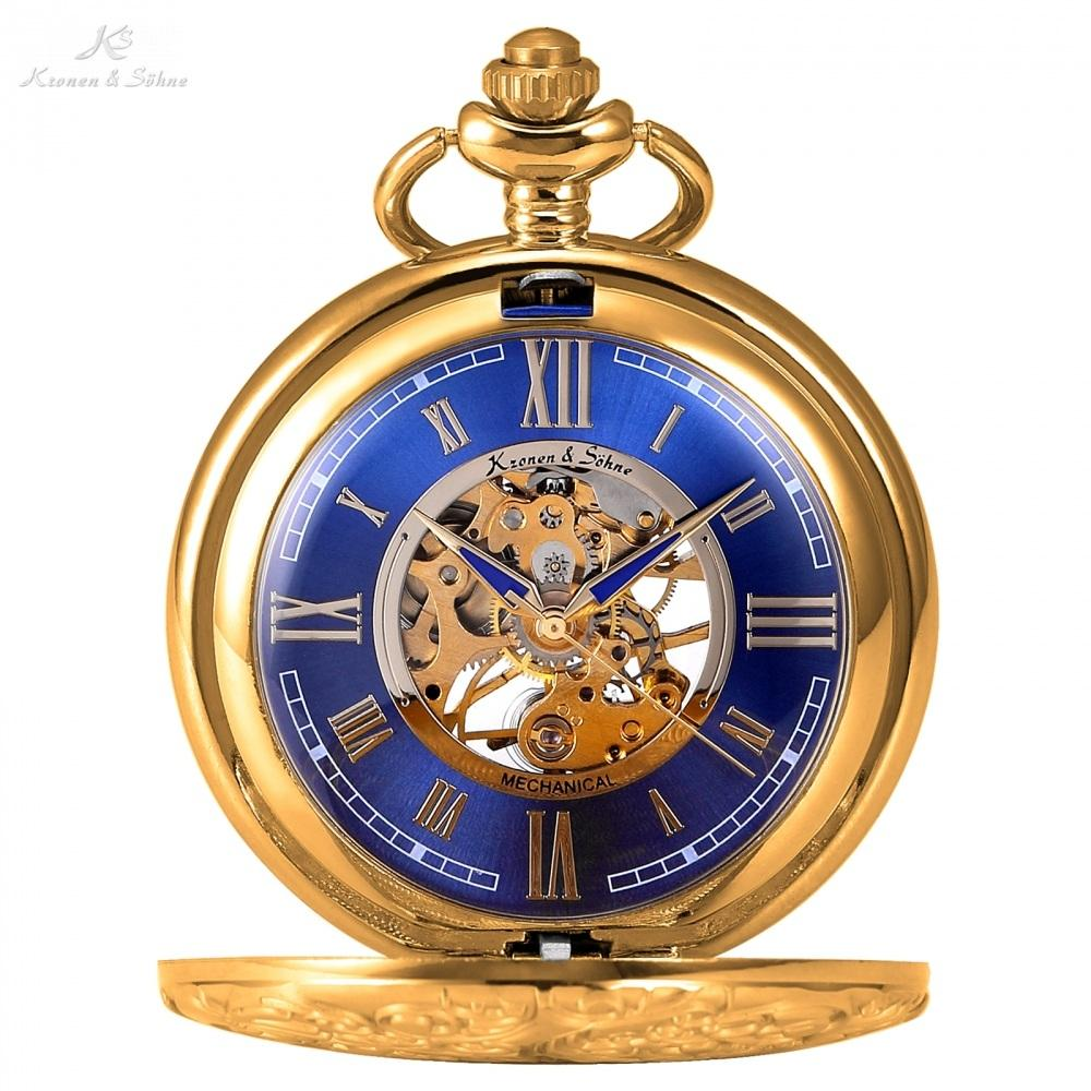 Kronen & Söhne Elegant Mechanical Full Hunter Pocket Watch - Pocket Watch Store