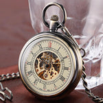 Vintage Steampunk Mechanical Open Face Pocket Watch