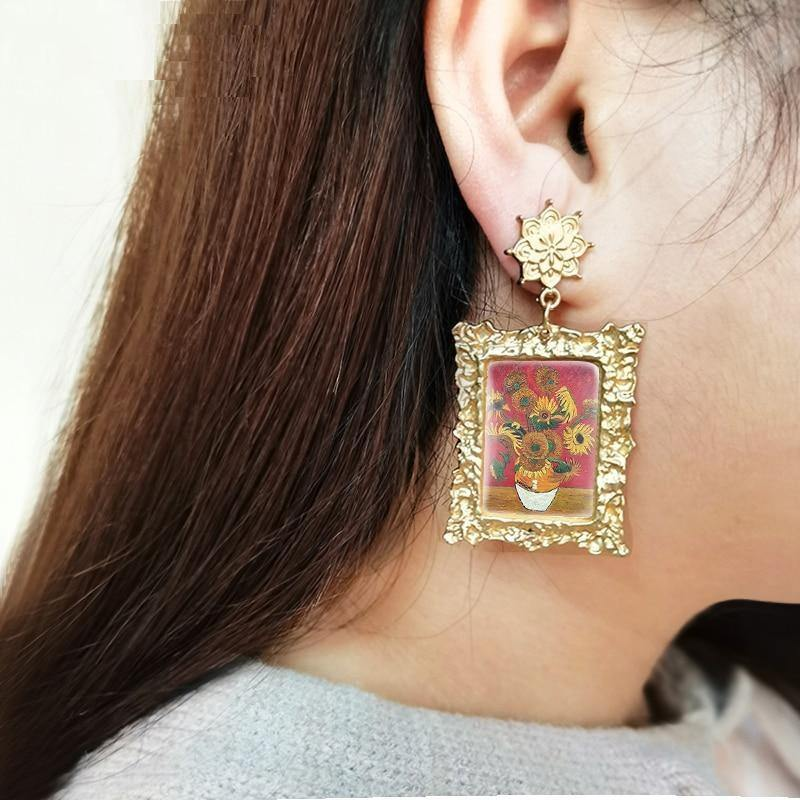Van Gogh Earrings, Almond Blossoms - Flames Of Dreamers