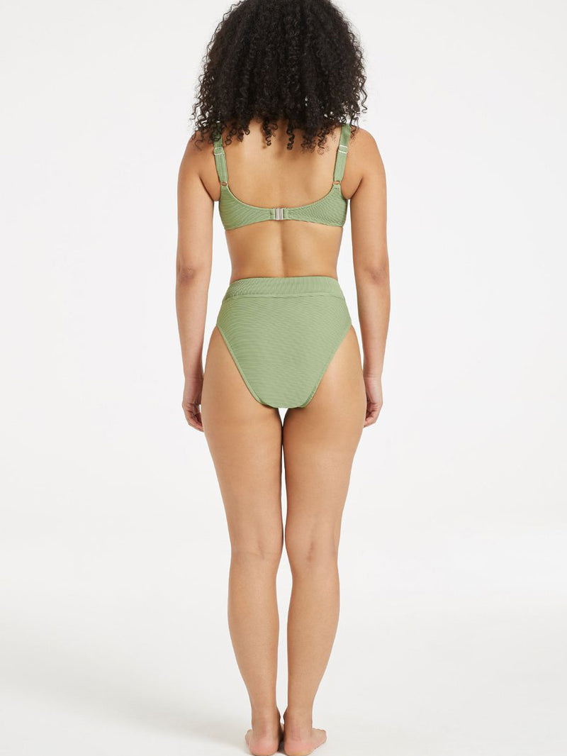 Zulu & Zephyr - Signature High Waisted Brief - Tallow Green