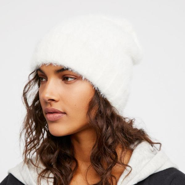 Free People - Head in the Clouds Fuzzy Hat Ivory