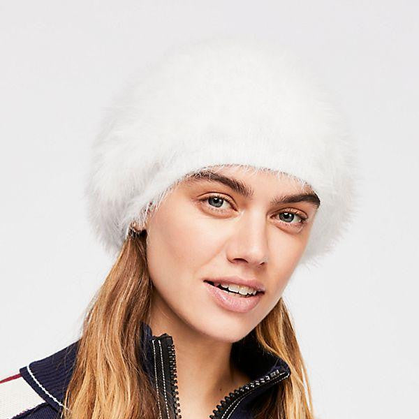 Free People - Big Sky Slouchy Beanie - White