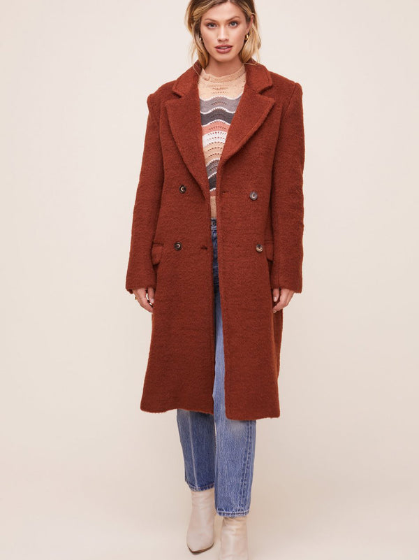 ASTR - BLAIR COAT - WARM CINNAMON