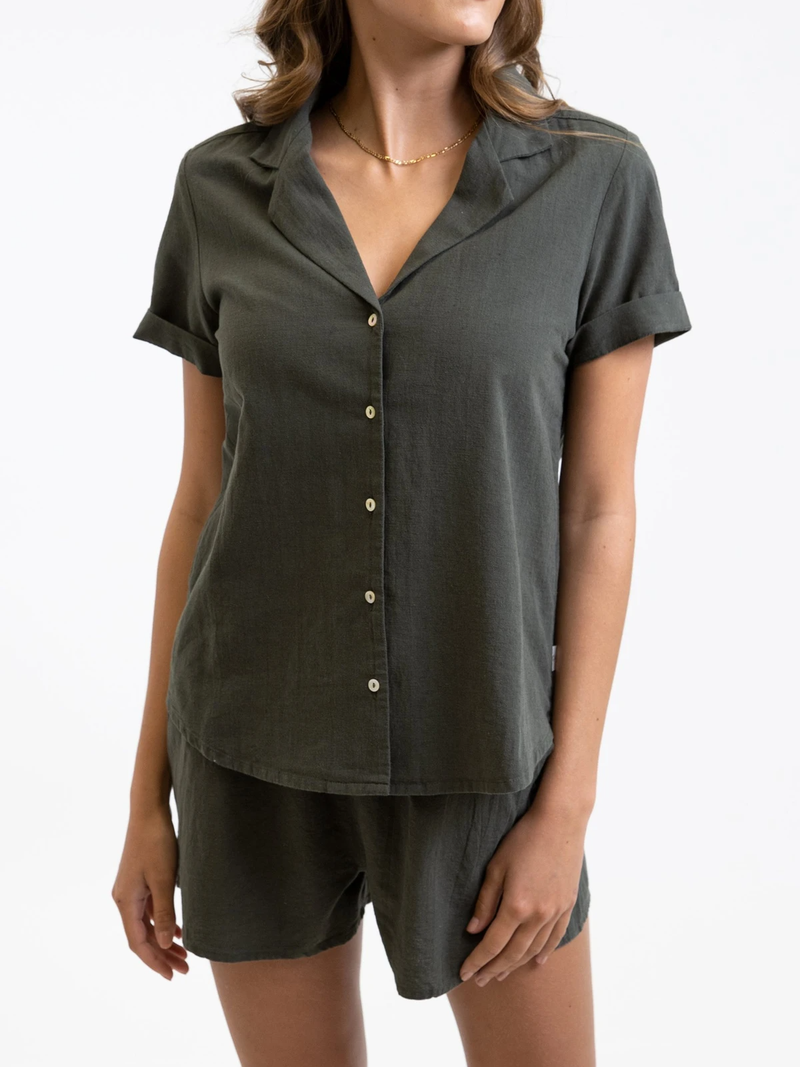 Rhythm - Classic Short Sleeve Shirt - Olive