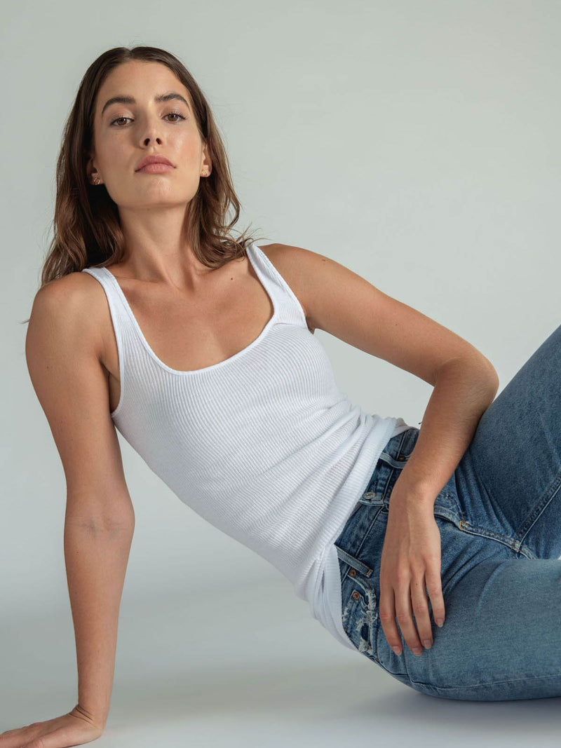 Perfectwhitetee - Jagger White Tank
