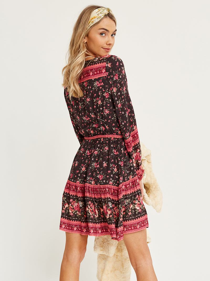 Arnhem - Flora Mini Dress in Blackberry