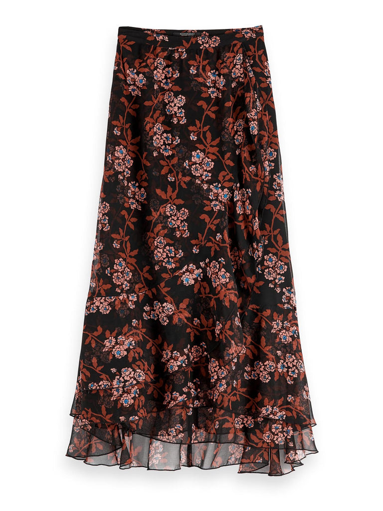Scotch & Soda - Floral Printed Maxi Skirt