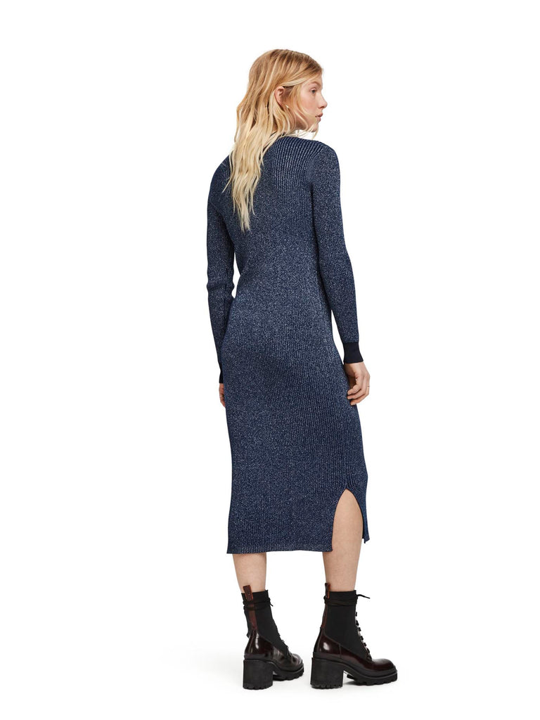 Scotch & Soda -  Lurex Knitted Midi Dress