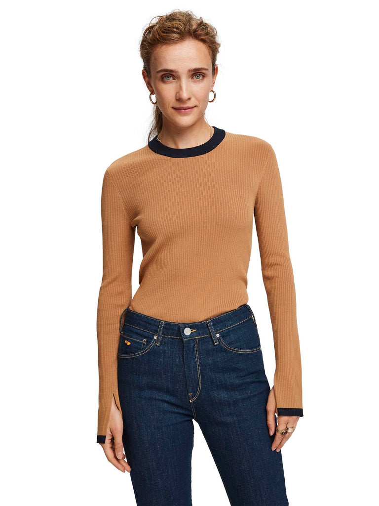 Scotch & Soda - Contrast Knit Top