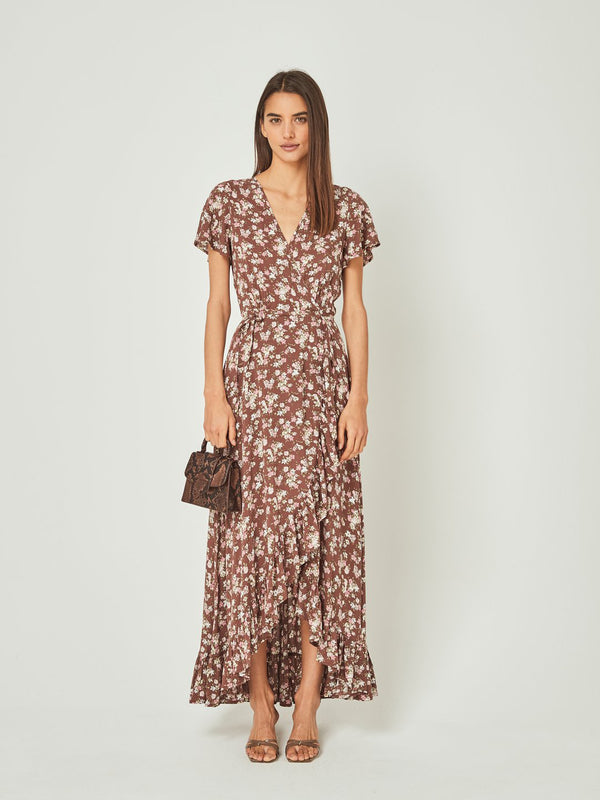 Auguste - Matilda Fleur Wrap Maxi Dress - Brown
