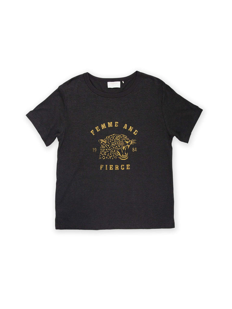 Auguste - Femme Tee - Washed Black