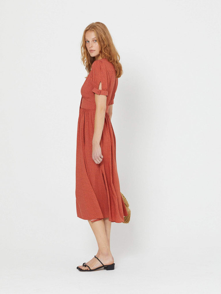 Auguste - Florence Maple Midi Dress Terracotta
