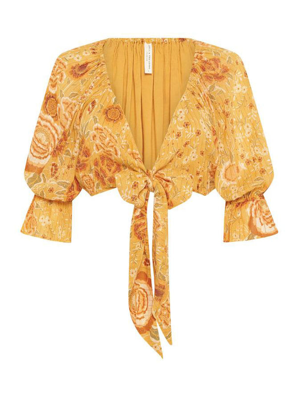 Spell -Mystic Tie Top -Sunflower