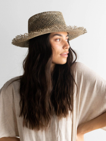 Gigi Pip - Willa Natural Seagrass Hat