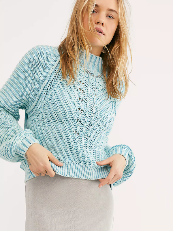 Free People - Sweetheart Sweater - Ocean Pearl