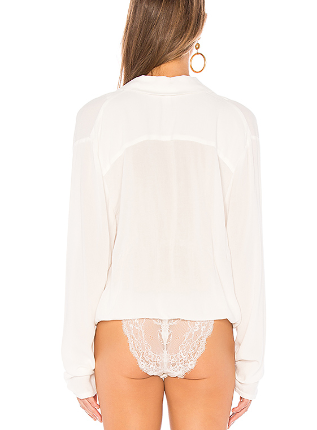 Free People - Elsa Bodysuit, Cream
