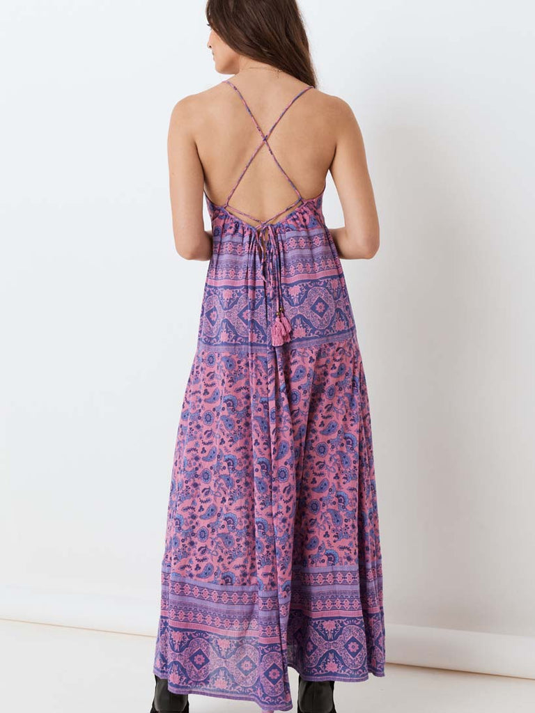 Spell - Journey Strappy Maxi Dress Mulberry