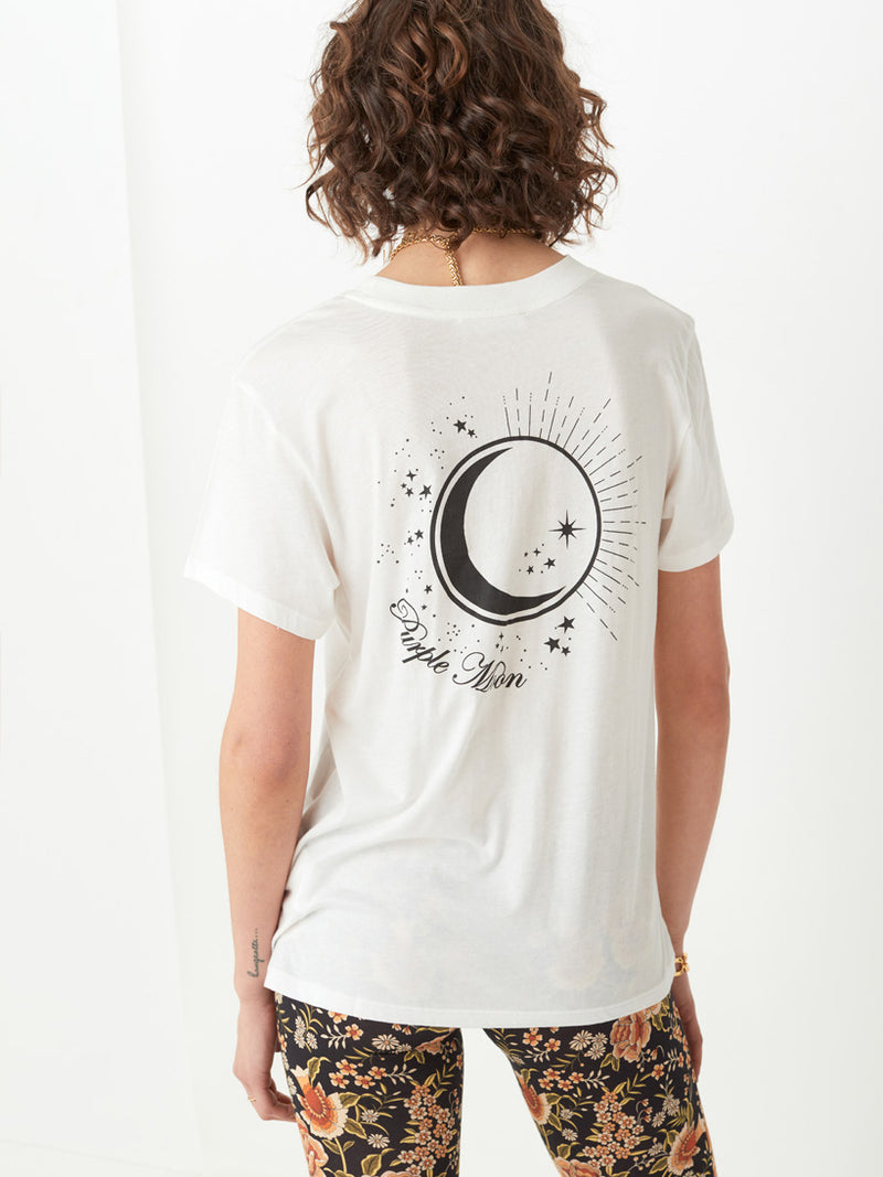 Spell - Purple Moon Organic Boyfriend Tee - Off White