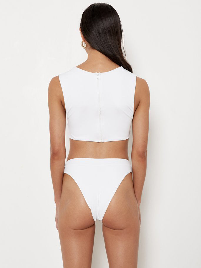 Aila Blue - Rica Bottoms - White Rib
