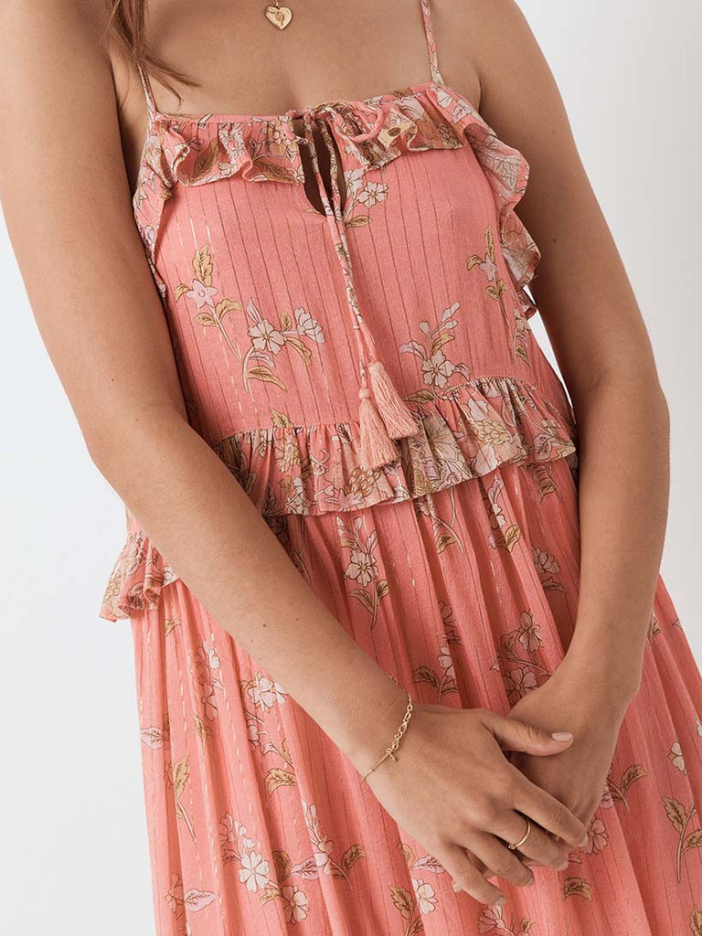 Spell - Hendrix Strappy Maxi Dress Dusty Pink