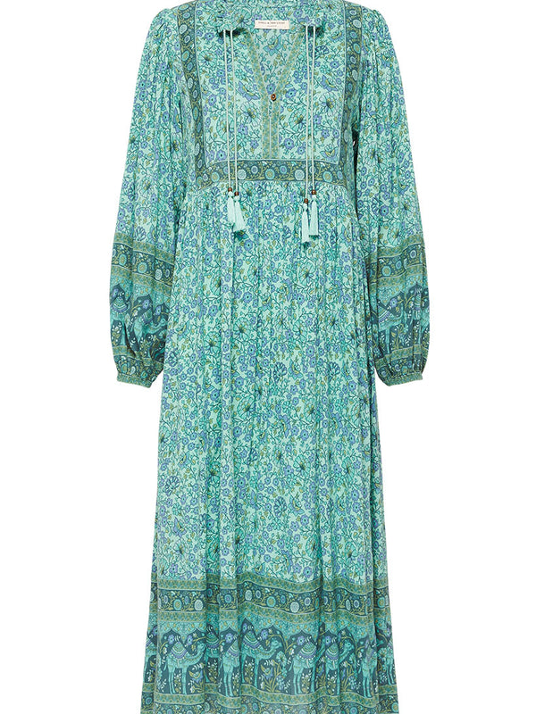 Spell Sundown Boho Dress - Turquoise
