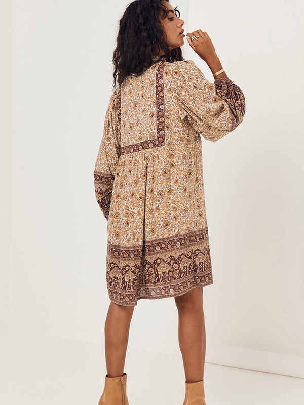 Spell Sundown Boho Mini Dress - Spice
