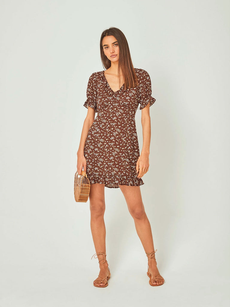 Auguste - Cleo Mini Dress - Brown
