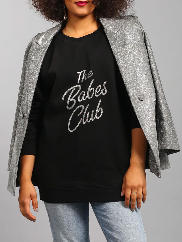 "Brunette - The ""BABES CLUB"" Big Sister Crew Neck Sweatshirt 