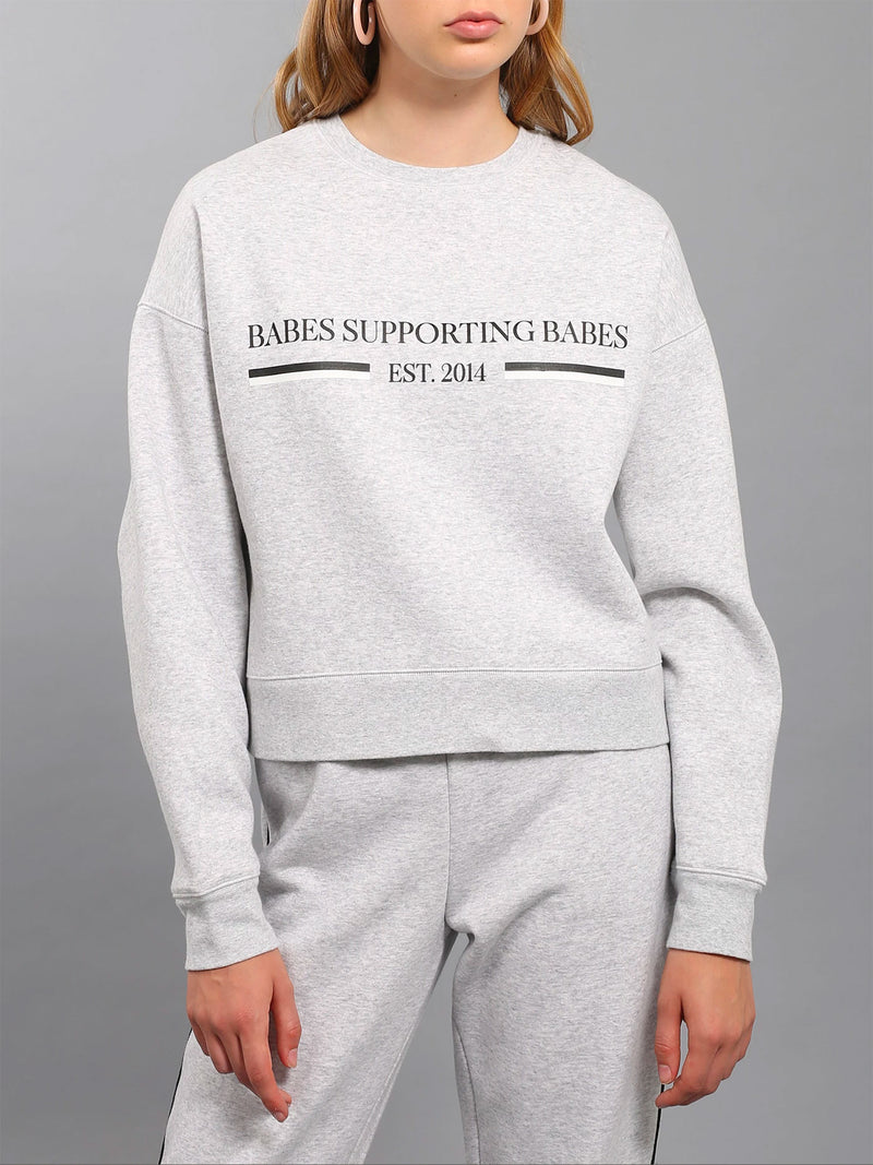 "Brunette - The ""BABES SUPPORTING BABES"" Little Sister Crew Neck Sweatshirt 