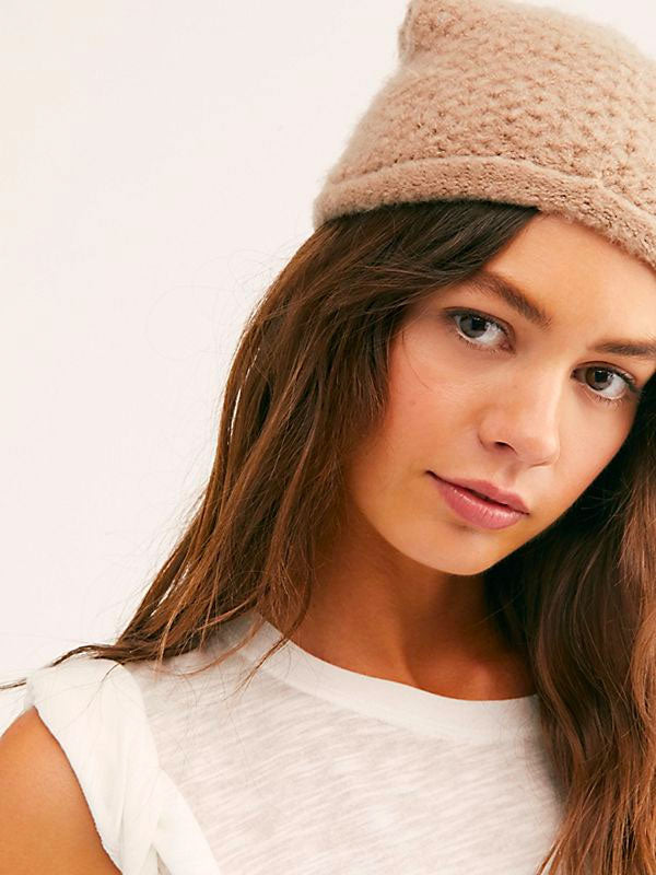 Free People - Dreamland Knit Beanie Taupe