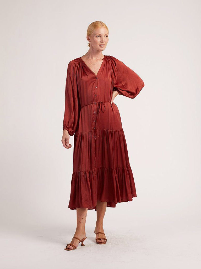 Cleobella - Clare Midi Dress - Claret