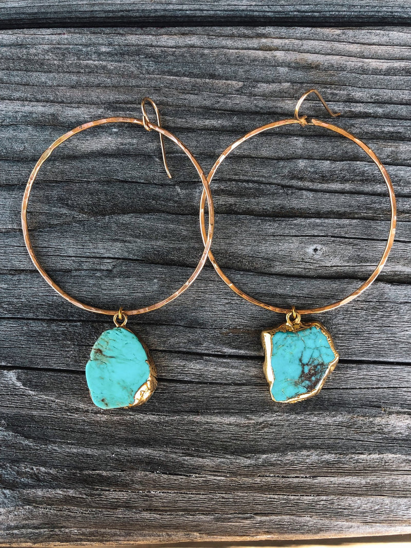 Toasted - Serendipity Turquoise Hoops