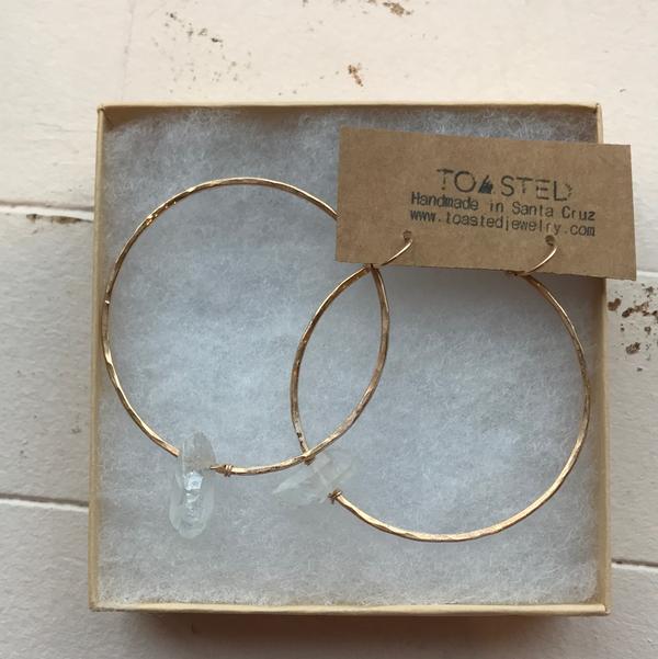 Toasted - Crystal hoops