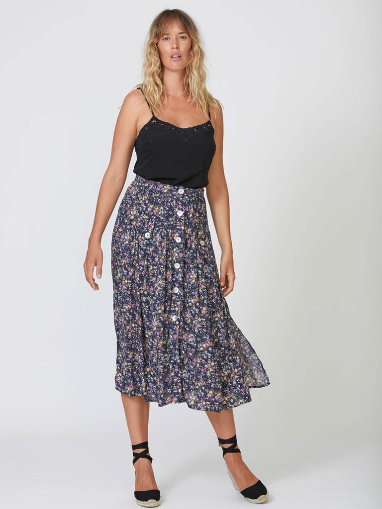 Auguste Lola Brooks Midi Skirt - Navy