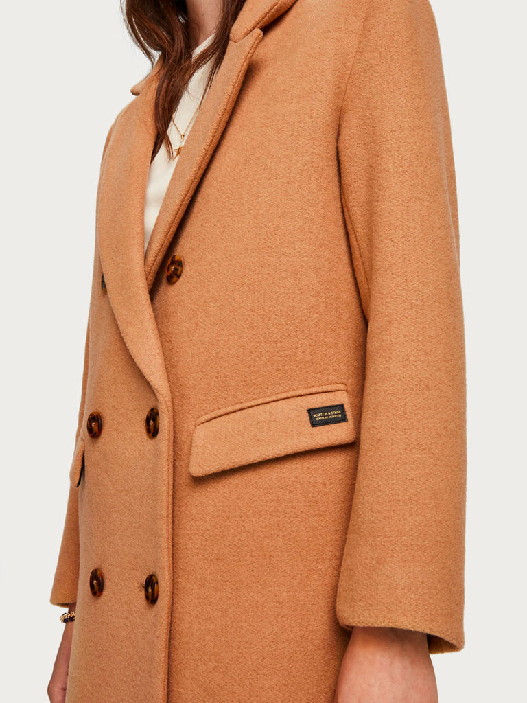 Scotch & Soda - Long Double Breasted Tailored Wool Coat