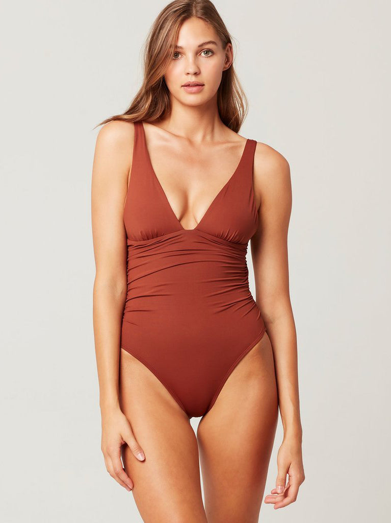 L*Space Sydney One Piece Swimsuit - Tobacco