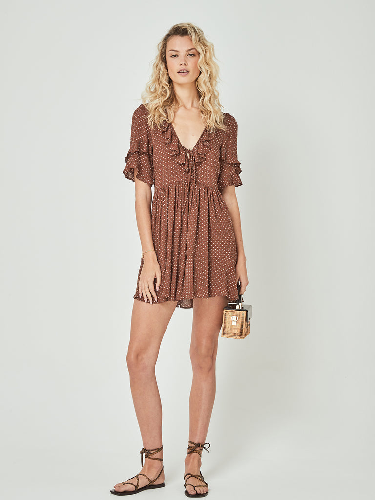 Auguste - Collins Frida Mini Dress Brown