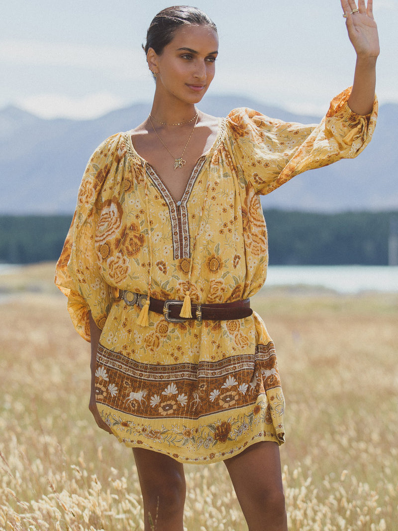 Spell - Mystic Tunic Dress - Sunflower