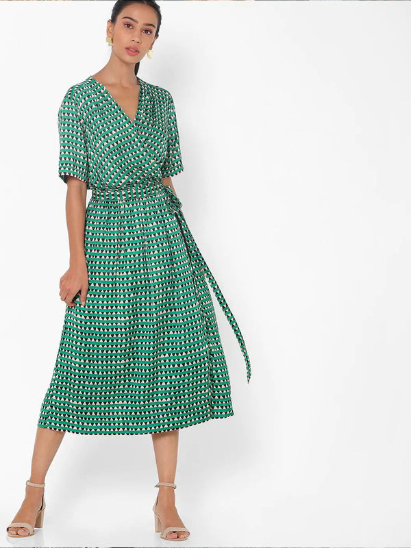 SCOTCH & SODA Midi Length Wrapover Dress - Geometric