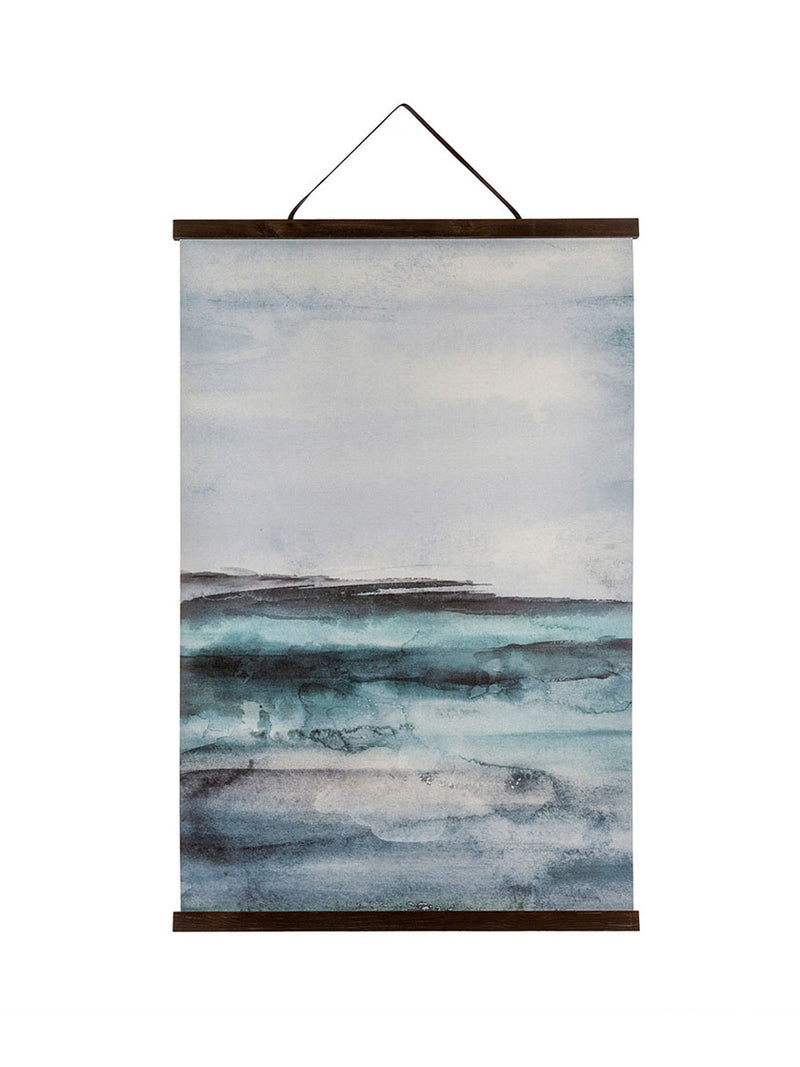 Seas of Blue Linen Wall Hanging