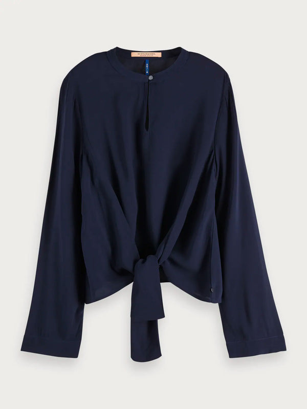 SCOTCH & SODA Tie Detail Top - Navy