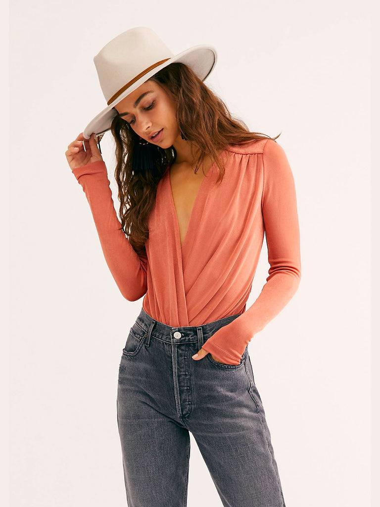 Free People - Turnt Bodysuit Copper
