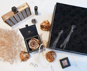 luxury flower sydney, preserved rose, preserved flower, black rose, rose, flower, eternity rose, long lasting rose, rose box, flower box